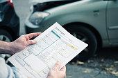 Car accident statement paper after car crash