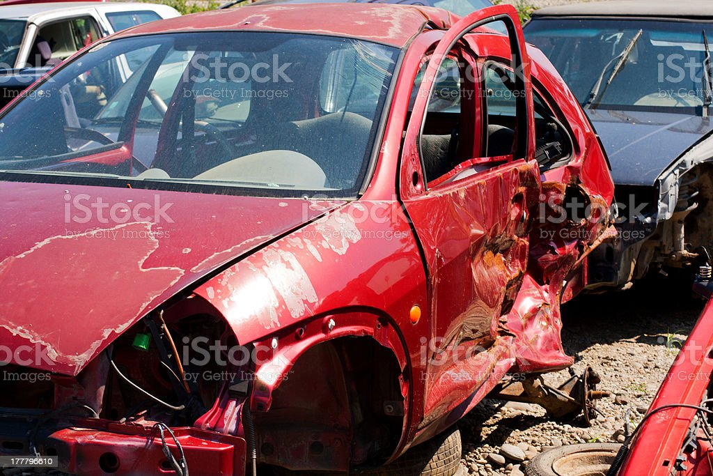 Car accident where the damage was huge royalty-free stock photo