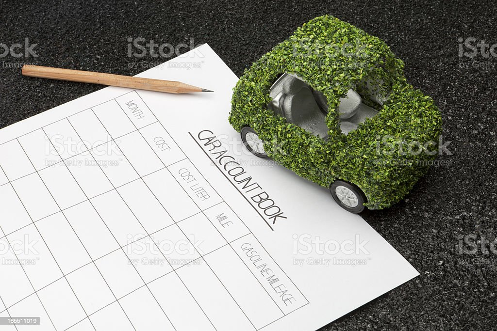 car account book royalty-free stock photo
