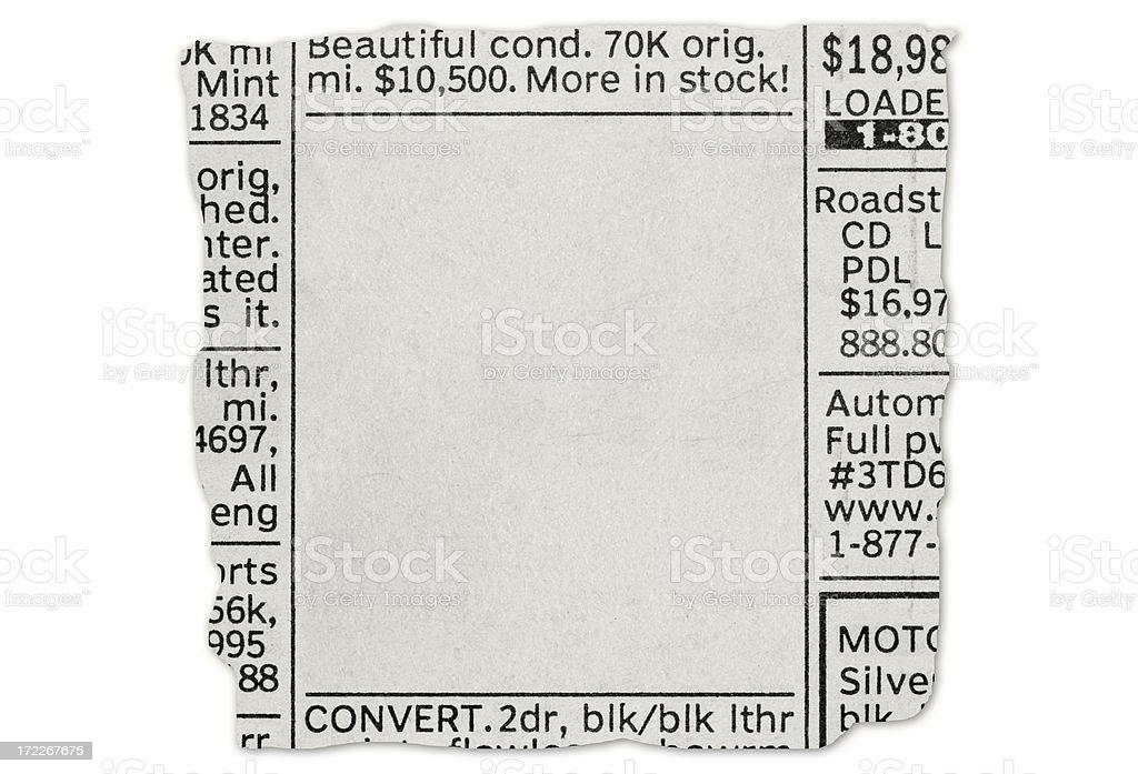 Car Ad royalty-free stock photo