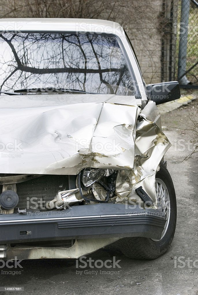 car after crash royalty-free stock photo