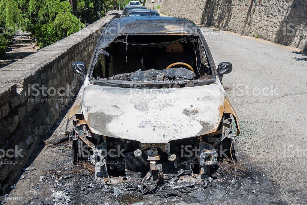 car after crash stock photo