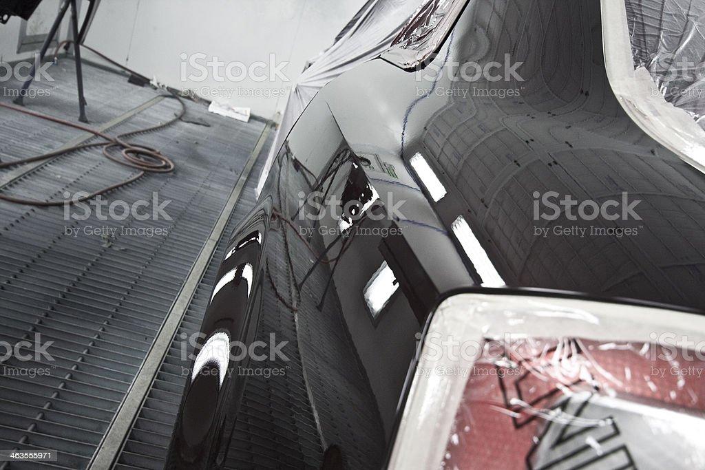 Car after respray stock photo