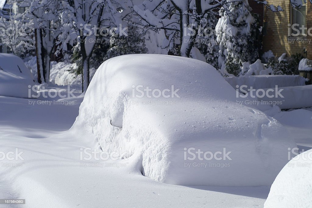 Car after Snow Storm stock photo