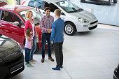 car agent congratulate the family