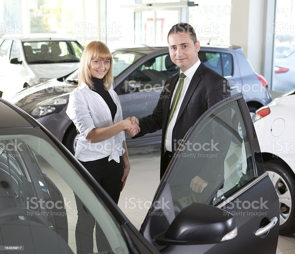 Car Agreement royalty-free stock photo