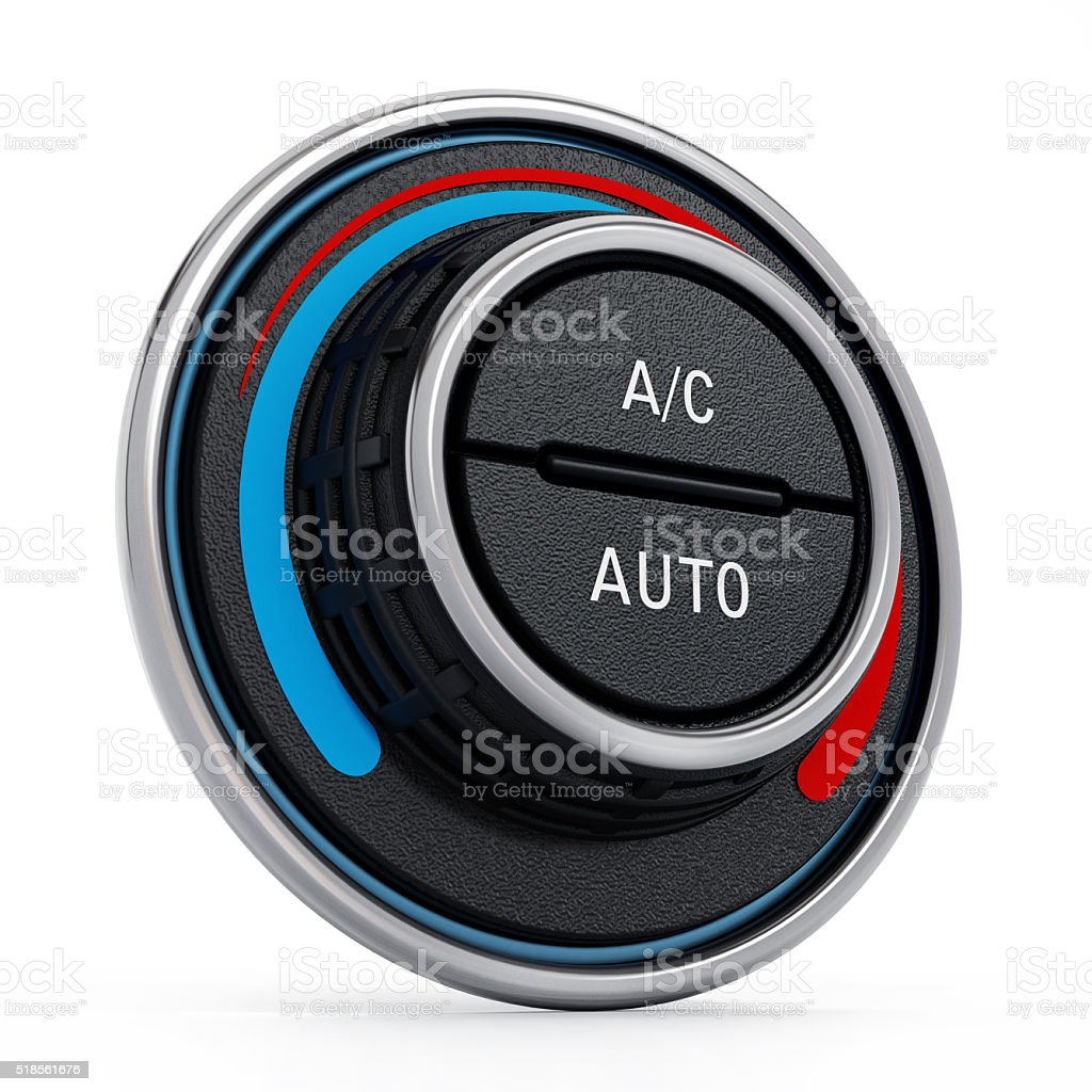 Car air conditioning button stock photo
