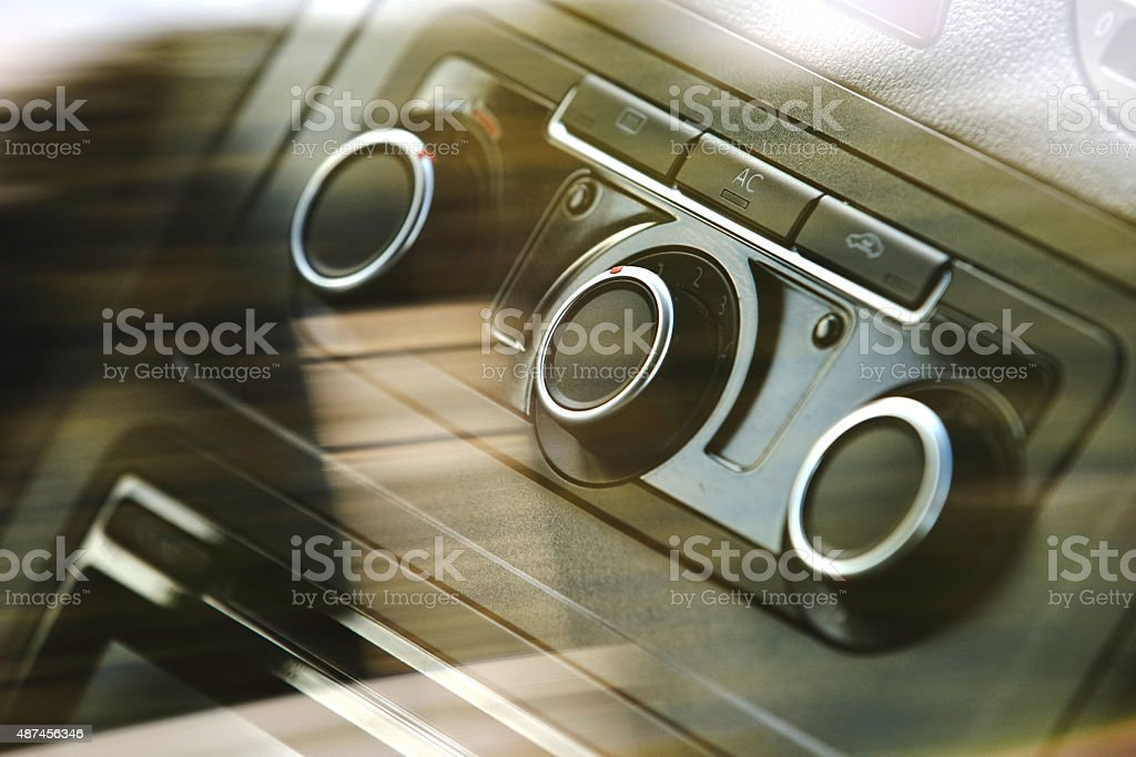 Car air conditioning knobs stock photo