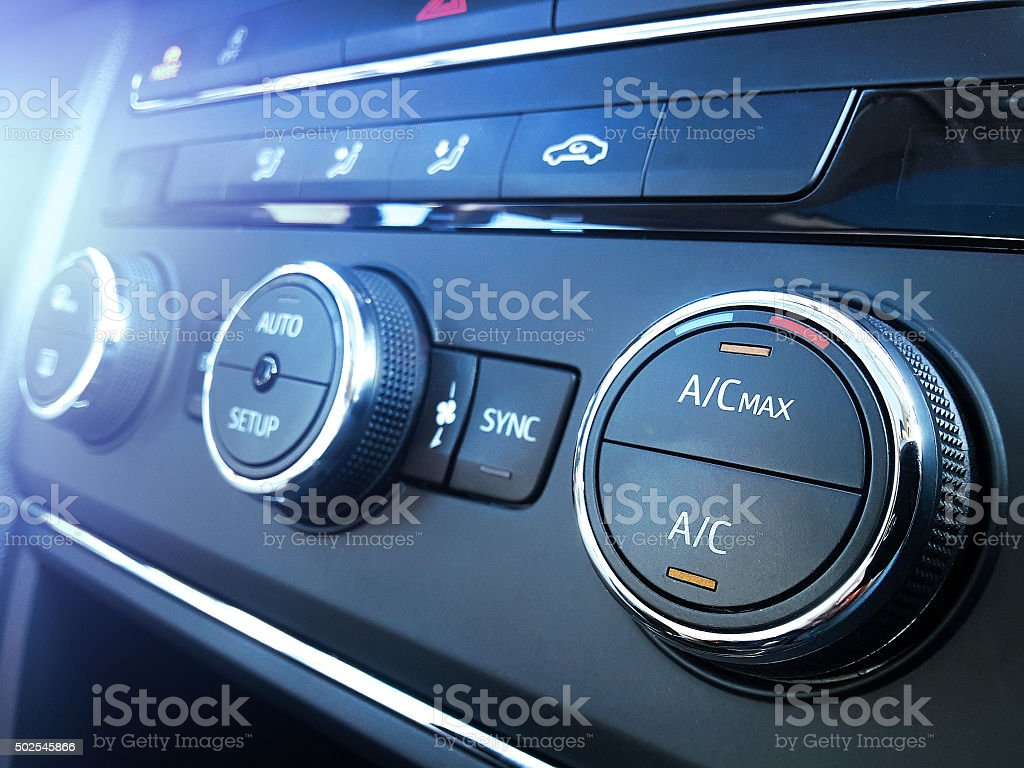 Car air conditioning stock photo