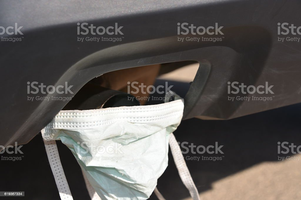 car Air pollution concept stock photo