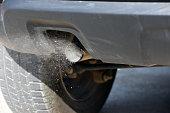 Car Air pollution concept