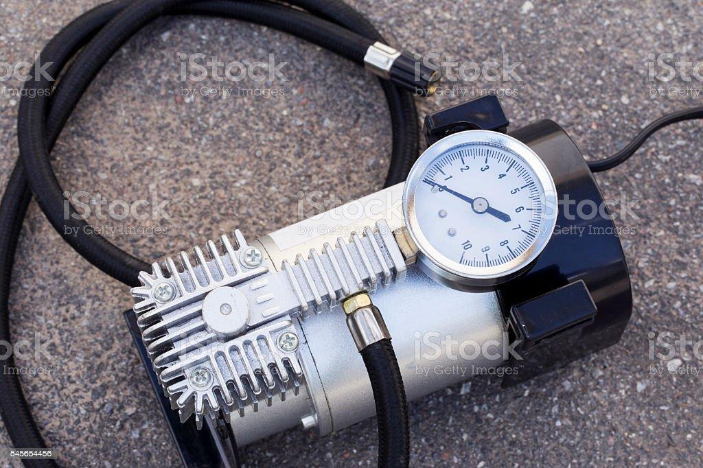 car air pump stock photo