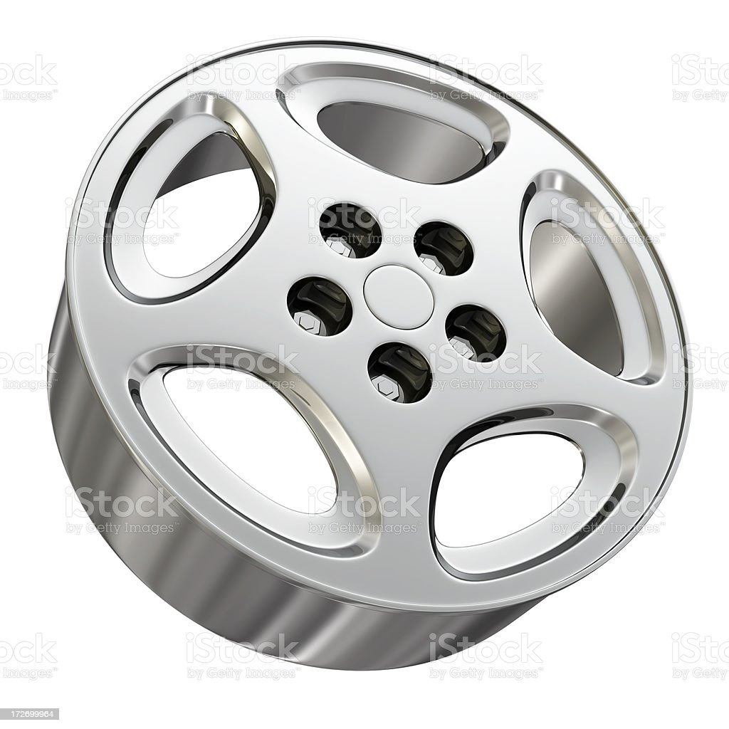 car alloy rim - isolated royalty-free stock photo