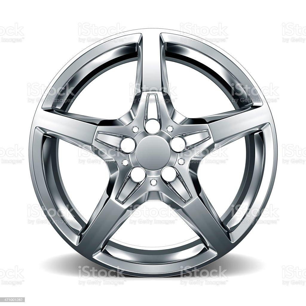 Car Alloy Rim on white background stock photo