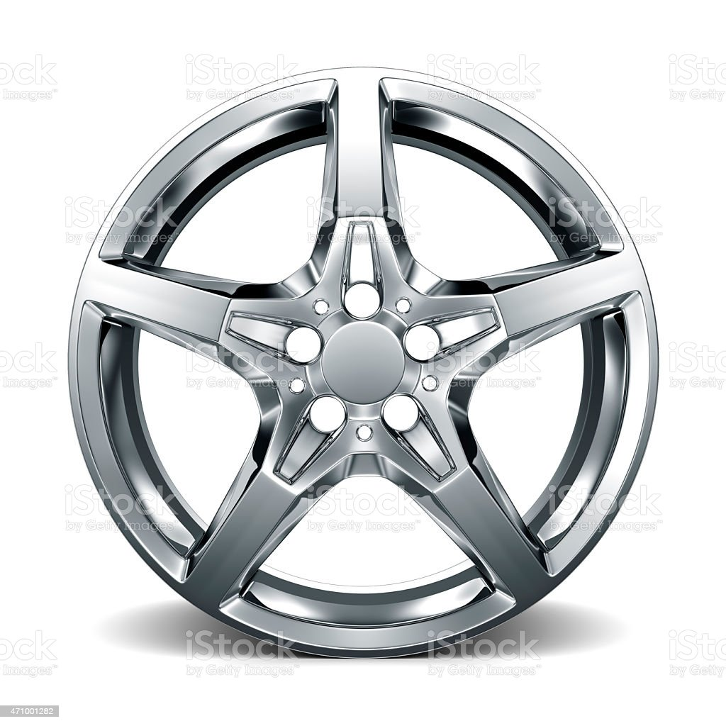 Car Alloy Rim on white background stock photo