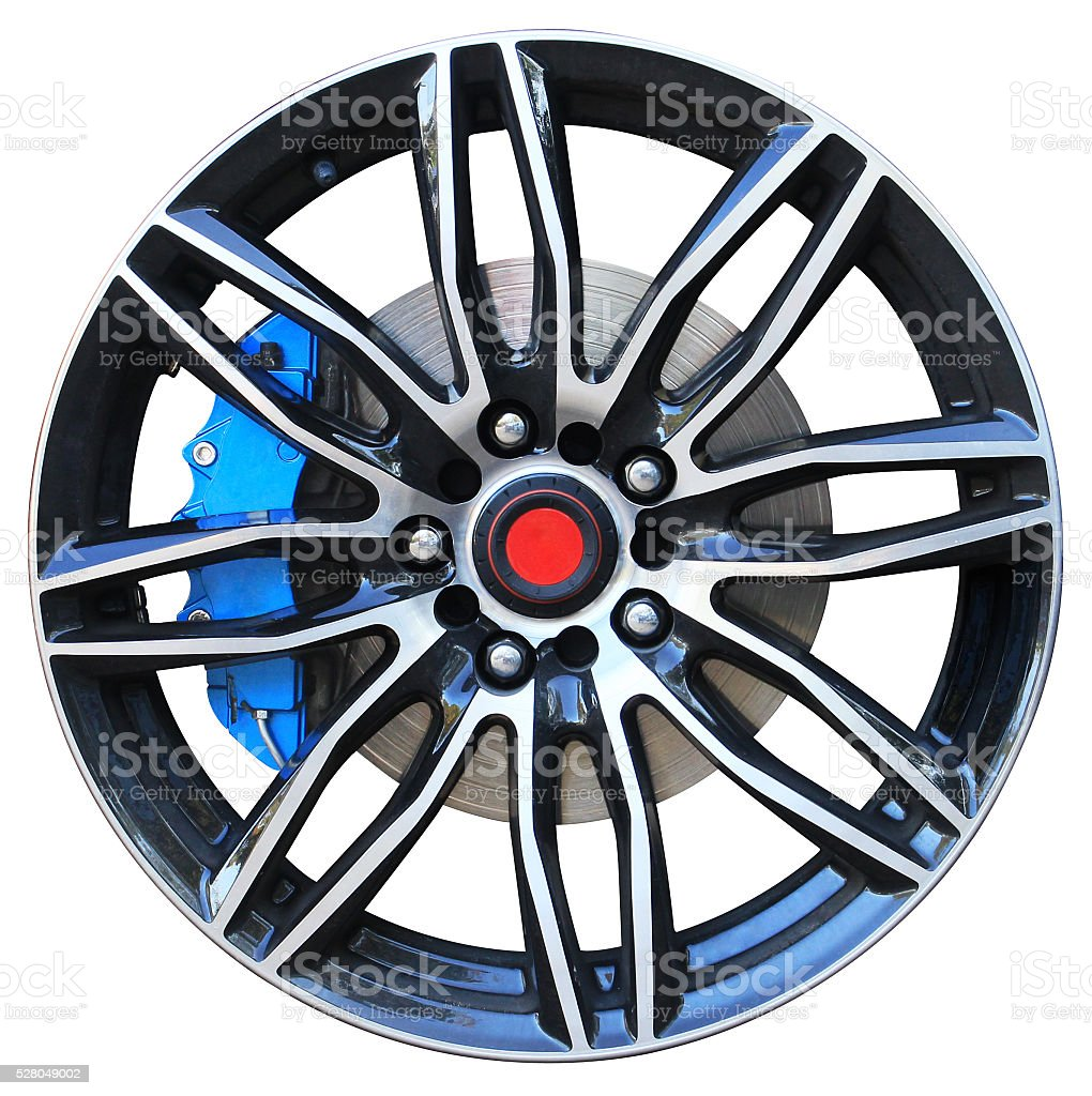 Car alloy rim stock photo