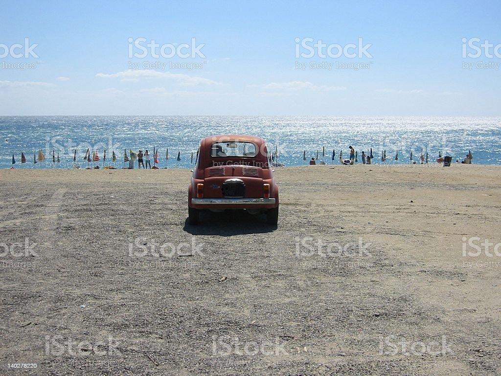 Car am Strand stock photo