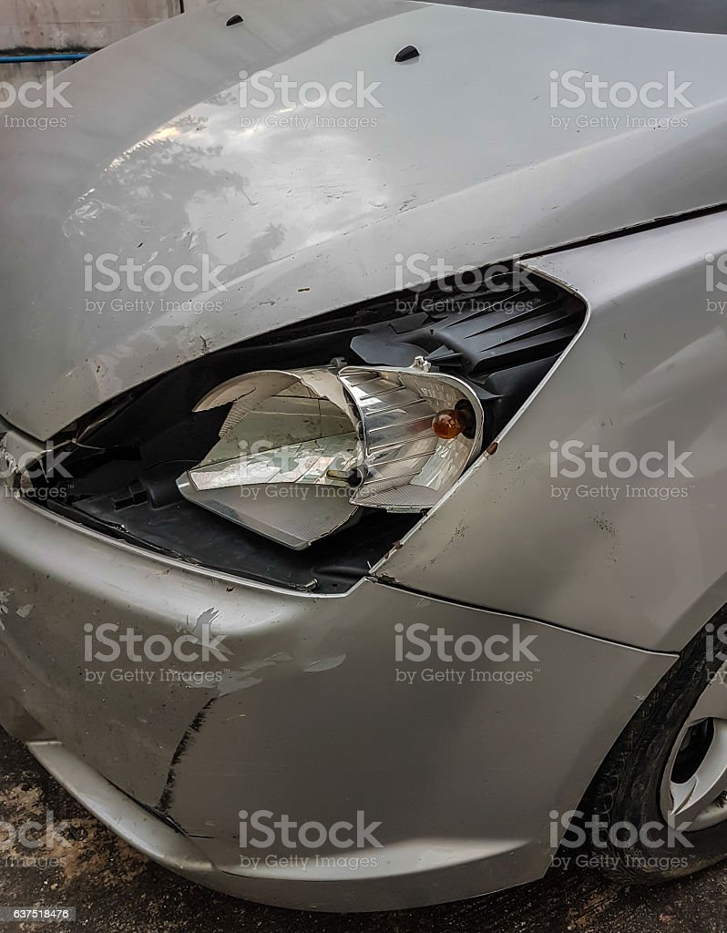 Car an accident stock photo