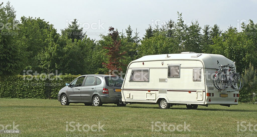 Car and caravan # 1 royalty-free stock photo