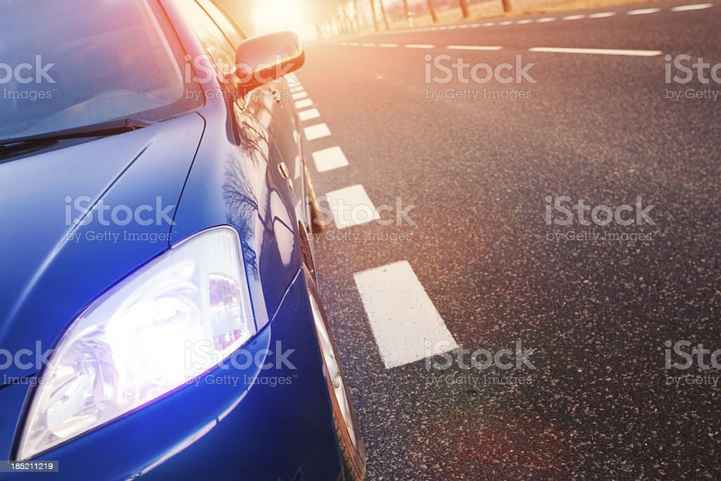 Car and light stock photo