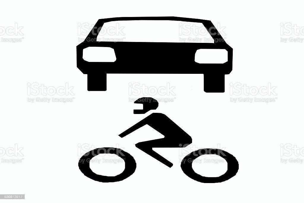 car and motor symbol stock photo