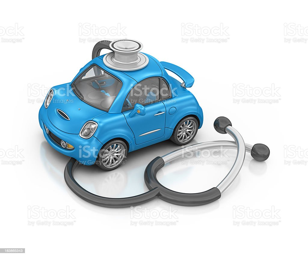 car and stethoscope royalty-free stock photo