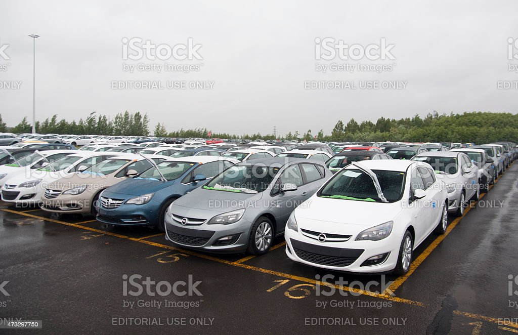 Car assembly plant stock photo