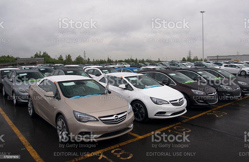 Car assembly plant stock photo