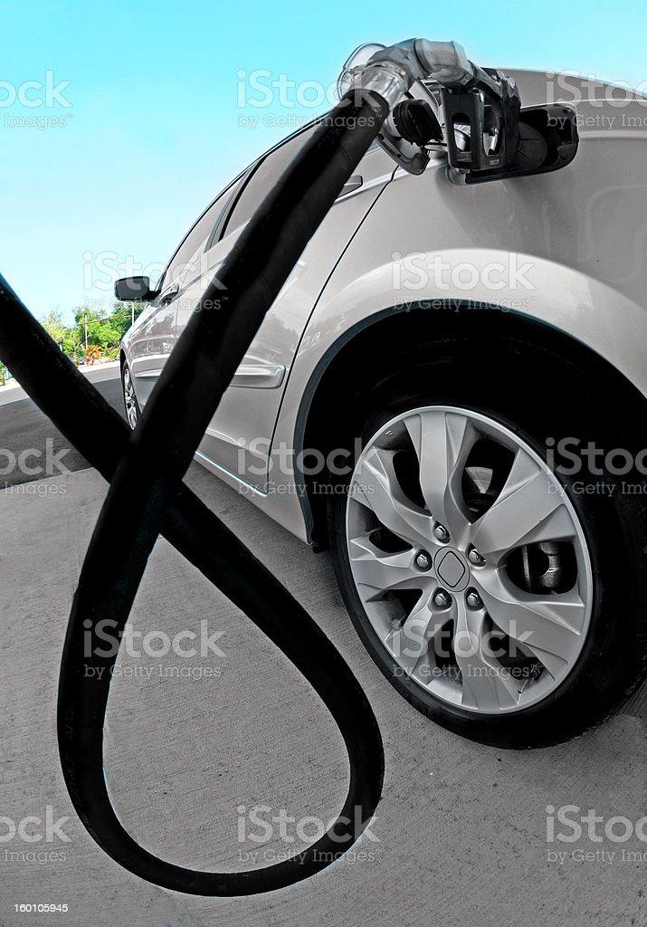 Car at Gas Station royalty-free stock photo