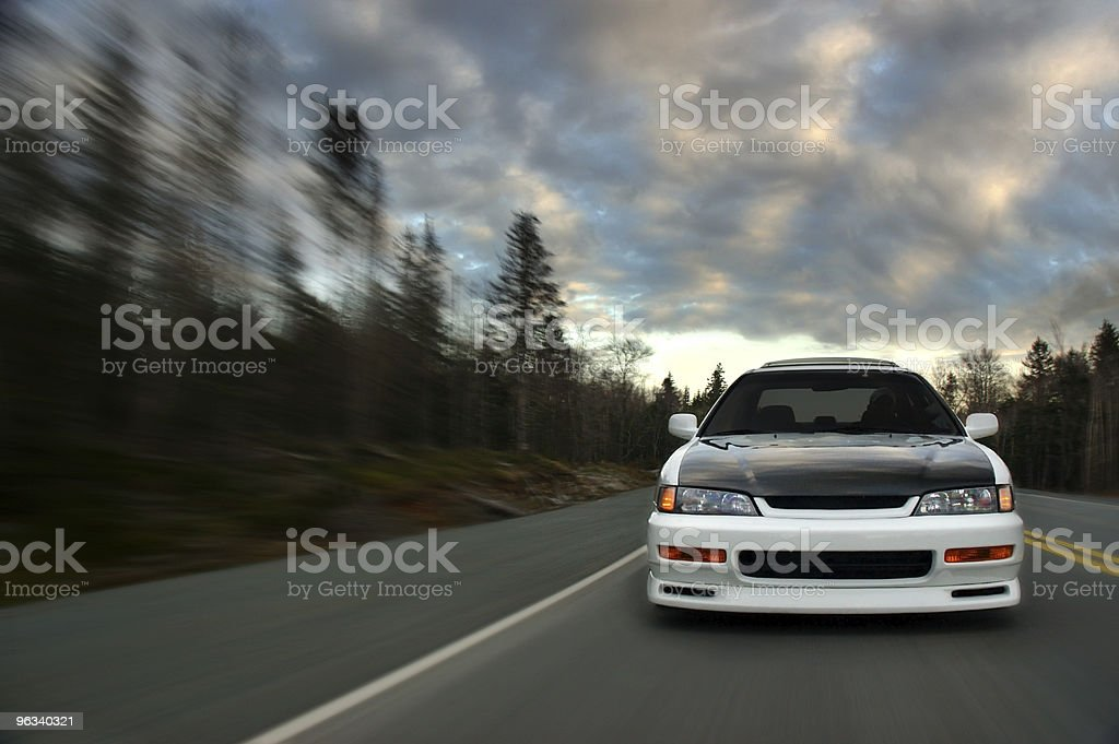 Car at Speed royalty-free stock photo