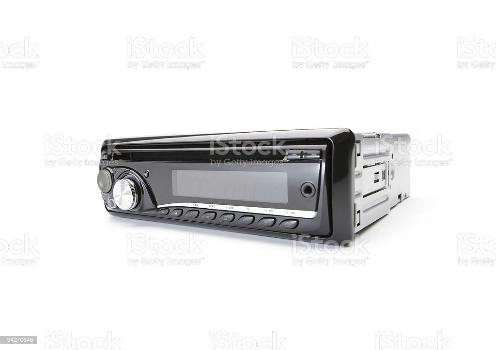 Car audio CD-Player stock photo