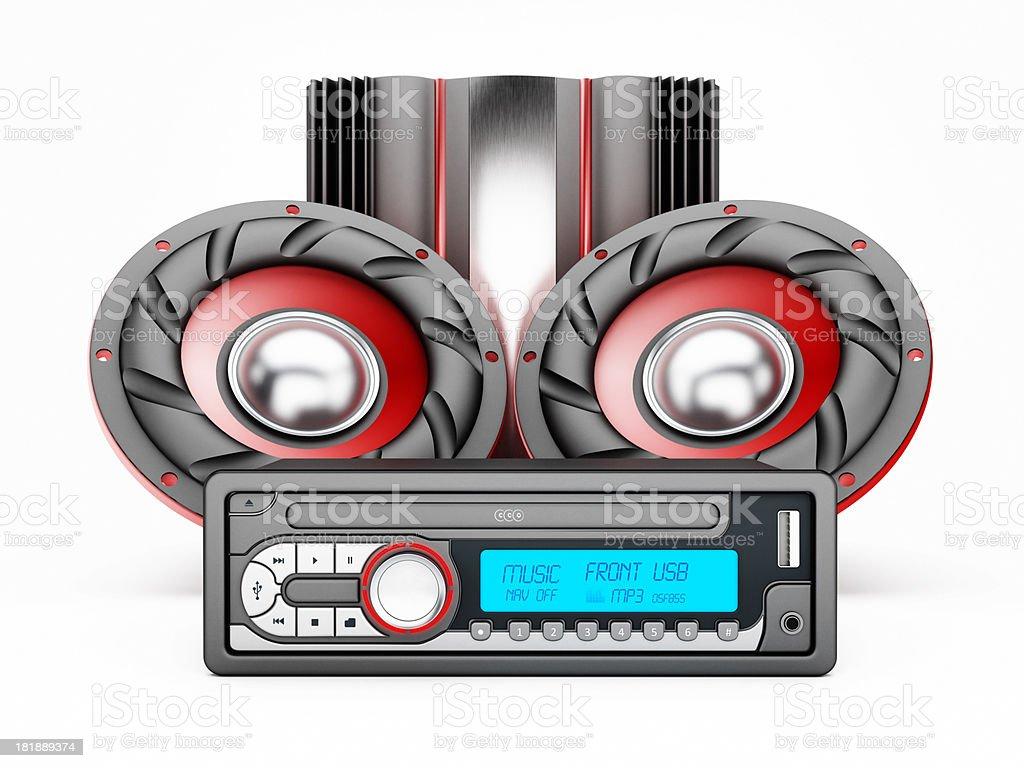 Car audio system royalty-free stock photo
