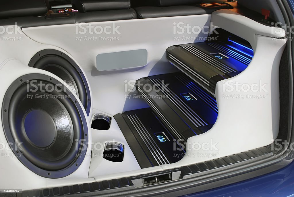 car audio system stock photo