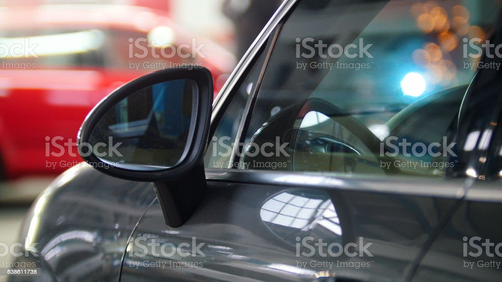 Car auto service - luxury automobile standing in opposite of stock photo