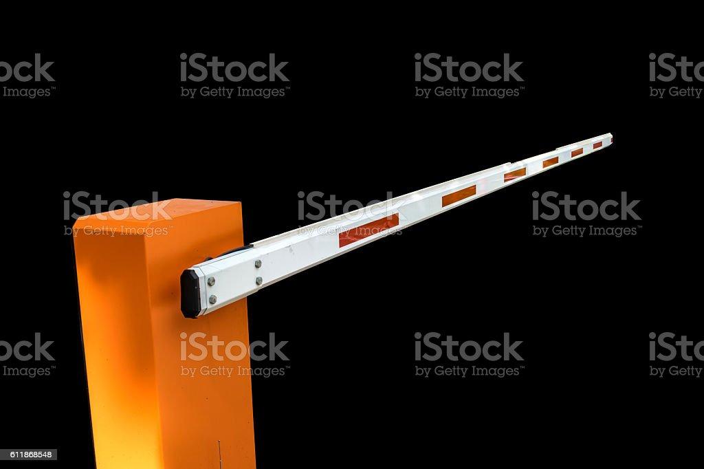 Car barrier isolate stock photo