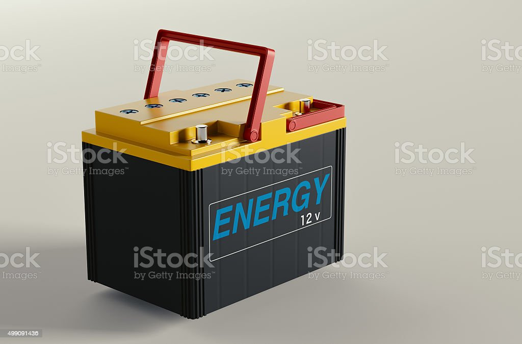 Car battery change stock photo