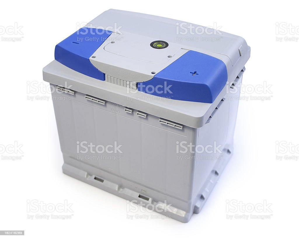 Car Battery - isolated with shadow royalty-free stock photo