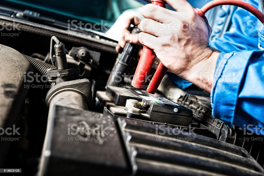 Car Battery stock photo