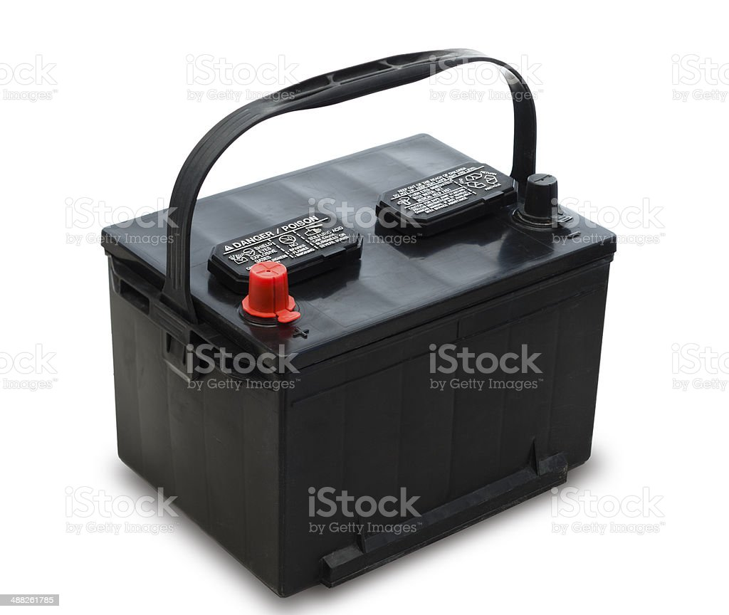 Car Battery with Handle (PATH) stock photo