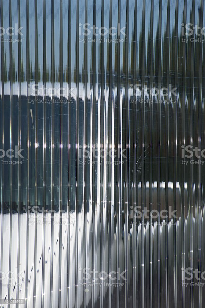 Car behind the glass chamber polycarbonate stock photo