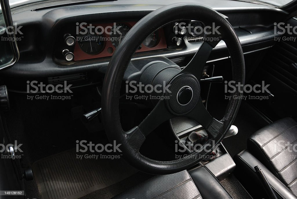Car black leather royalty-free stock photo