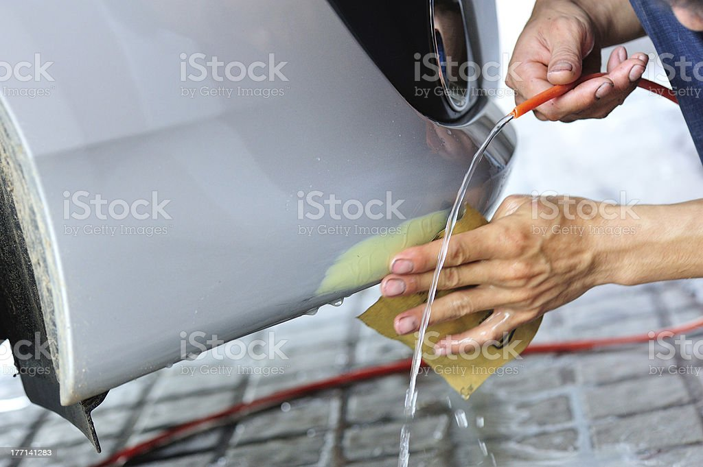 car body repair stock photo