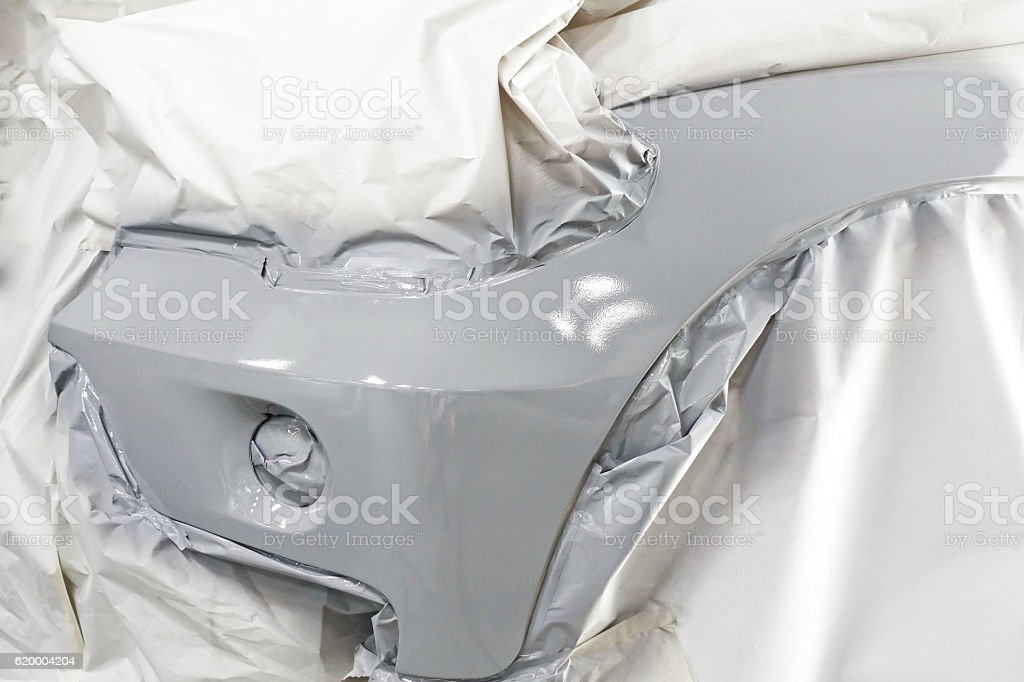 Car body work auto car repair paint after car accident stock photo