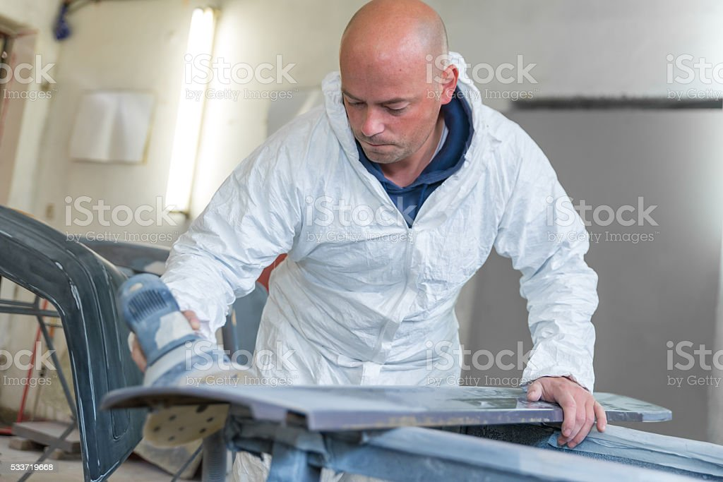 Car body work stock photo