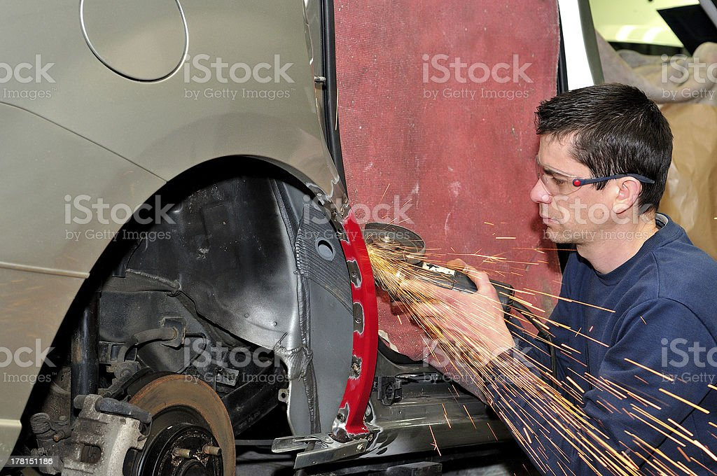 Car body worker. royalty-free stock photo