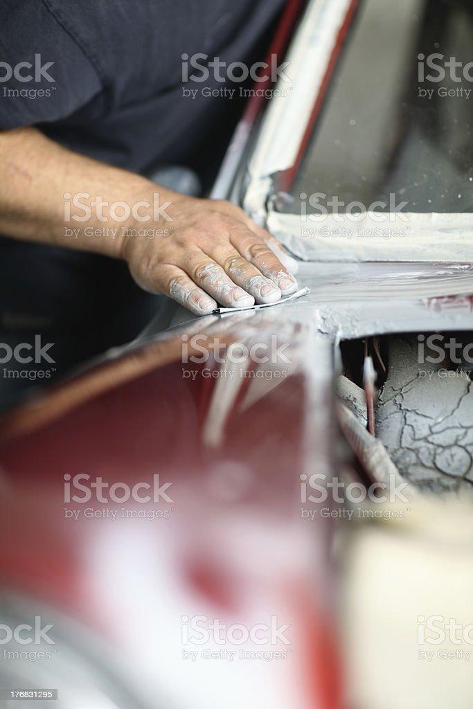 Car bodywork repairs royalty-free stock photo