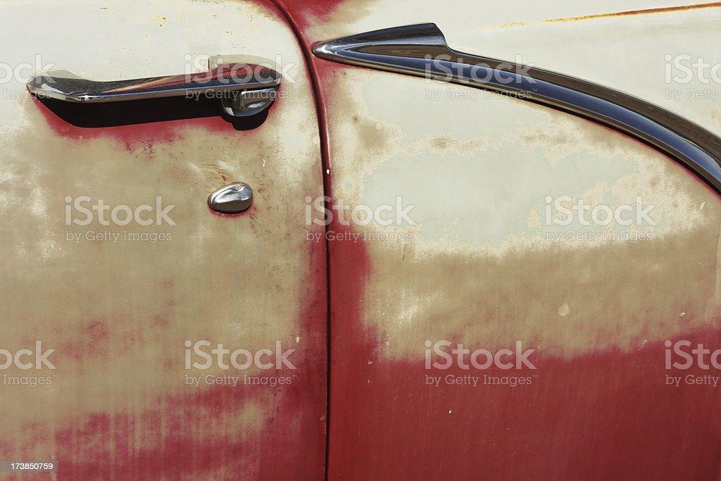 Car Bodywork Vehicle Door Chrome stock photo