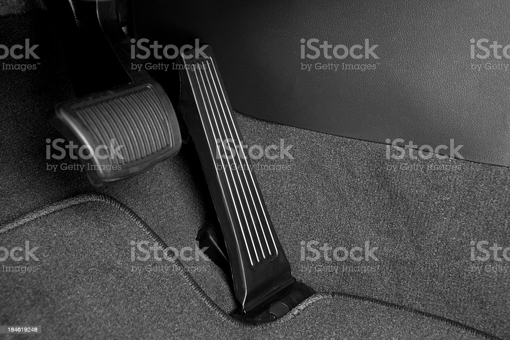 Car Brake and Gas Pedal stock photo