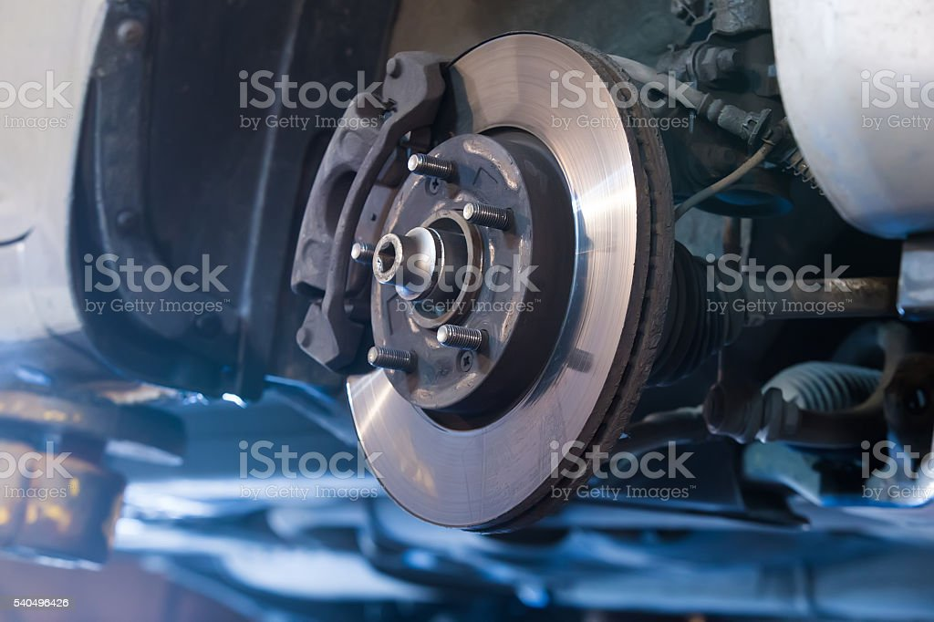 Car brake disc stock photo