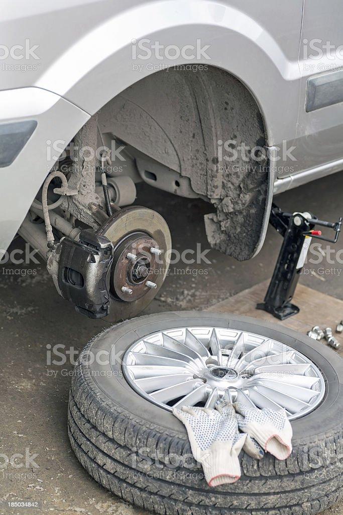 Car brake disk royalty-free stock photo